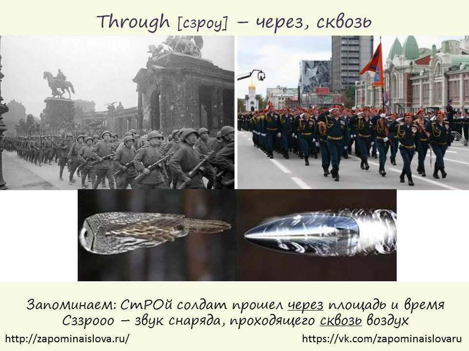 through перевод